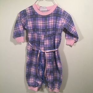 Bio Bottoms  size 2T cotton flannel romper